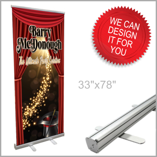 Pull Up Banners for Magicians