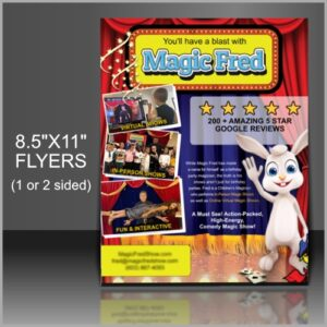 8.5x11 printed flyers