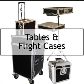 magician tables road cases