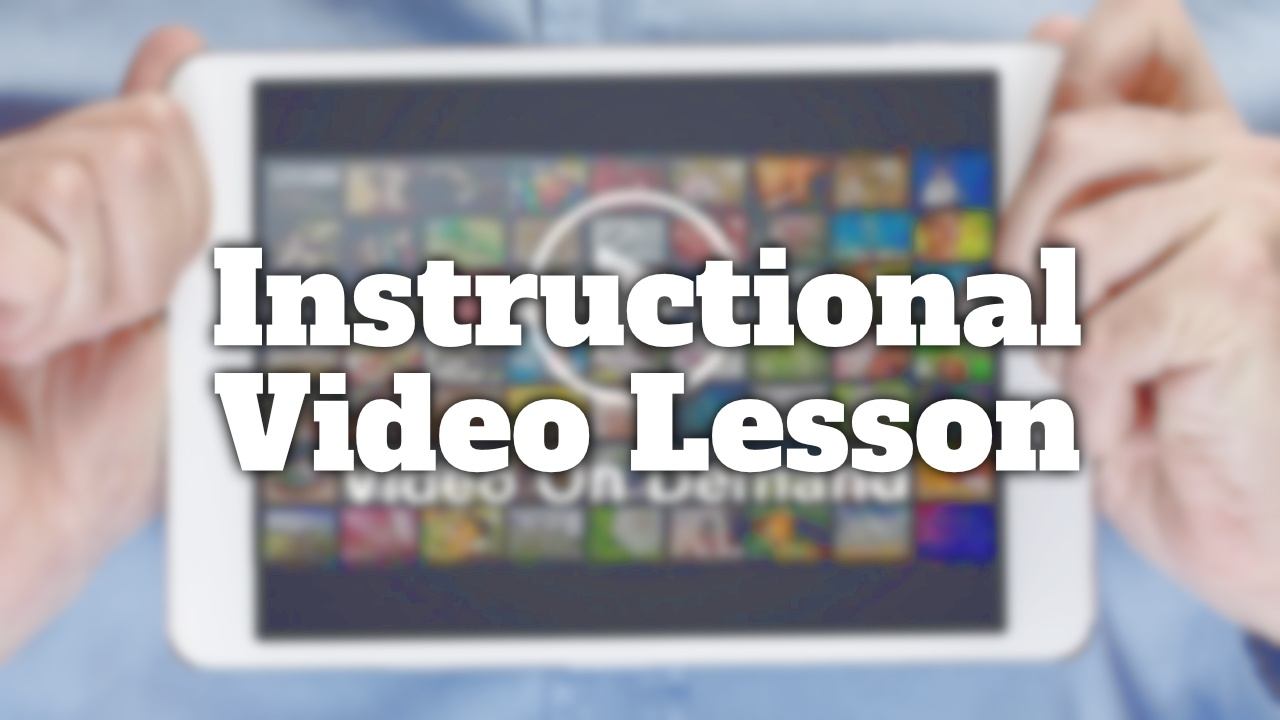 Video on demand Lessons