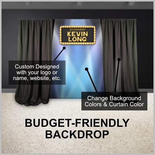budget backdrop for performers